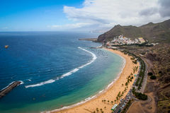 Piękna plaża w Tenerife Obraz Royalty Free