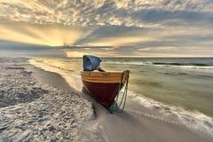 Piękna plaża z dennym widokiem, czysta woda Zdjęcia Stock