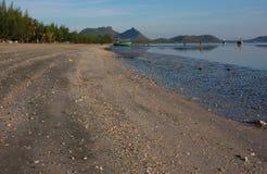 Piękna plażowa piasek fala tekstura Obrazy Royalty Free