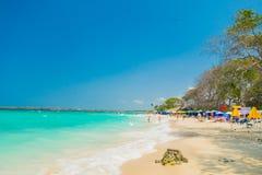Piękna Playa bielu lub Blanca plaża blisko do Zdjęcia Royalty Free