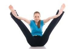 piękna, pojedynczy jogi ćwiczenie kobiety Obrazy Royalty Free