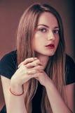 piękna portret kobiety Obraz Stock
