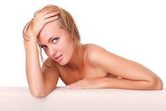 Piękna powabna ładna kobieta Zdjęcie Stock