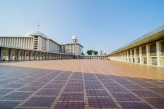 Piękna powierzchowność Istiqlal meczet Obraz Stock