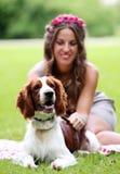 piękna psia dziewczyna zdjęcia stock