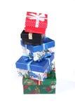 piękna pudełek prezenta sterta zdjęcie royalty free