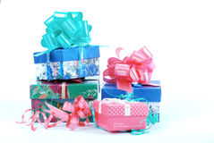 piękna pudełek prezenta sterta Fotografia Royalty Free