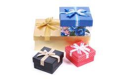 piękna pudełko prezenta sterta obraz royalty free