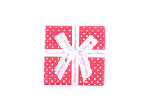 piękna pudełkowata prezent czerwień Obraz Royalty Free