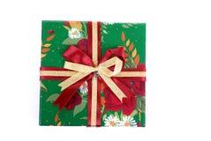 piękna pudełkowata prezent zieleń obraz stock