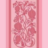 Piękna różowa kwiecista granica Obrazy Royalty Free