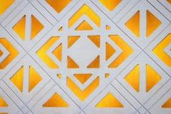 Piękna ręka rzeźbiący żółty biały drewniany drzwi czerep fotografia royalty free