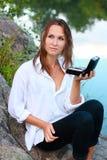 piękna ręki zestawów makeup natury kobieta Obraz Royalty Free