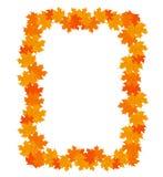 Piękna rama żółci jesień liście z miejscem dla teksta Fotografia Royalty Free