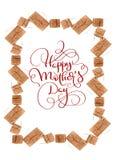 Piękna rama od prezentów pudełek i tekst matek Szczęśliwego dnia Kaligrafii literowania ręki remis Obraz Royalty Free
