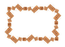 Piękna rama od prezentów pudełek z przestrzenią dla teksta Zdjęcie Stock