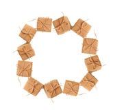 Piękna rama od prezentów pudełek z przestrzenią dla teksta Zdjęcia Stock