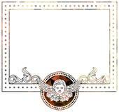 Piękna rama z aniołeczkiem w rocznika stylu Obraz Royalty Free