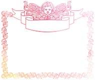Piękna rama z aniołeczkiem w rocznika stylu Zdjęcia Royalty Free