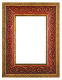 piękna ramowa złocista czerwień Fotografia Stock