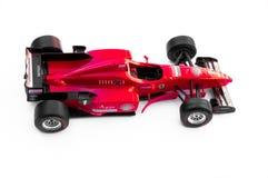 Piękna Rcae zabawka Ferrari na białym tle fotografia stock