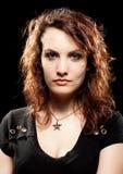 piękna rockowa kobieta Obraz Royalty Free