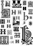 Piękna rocznika inicjału nakrętka H Obrazy Royalty Free