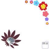 Piękna rosy kropla na liściu i flovers piękna rama soft Fotografia Stock