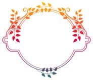 Piękna round kwiecista rama z gradientową pełnią Raster klamerka ar Obraz Stock
