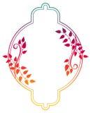 Piękna round kwiecista rama z gradientową pełnią Raster klamerka ar Zdjęcie Royalty Free
