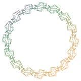 Piękna round kwiecista rama z gradientową pełnią Raster klamerka ar Zdjęcie Stock