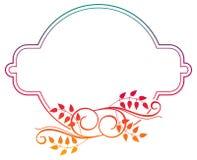 Piękna round kwiecista rama z gradientową pełnią Raster klamerka ar Obrazy Stock
