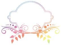Piękna round kwiecista rama z gradientową pełnią Raster klamerka ar Obraz Royalty Free