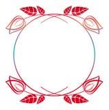 Piękna round kwiecista rama z gradientową pełnią Raster klamerki sztuka Obraz Stock
