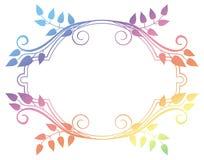 Piękna round kwiecista rama z gradientową pełnią Raster klamerki sztuka Zdjęcia Royalty Free