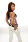 piękna ruda kobieta zdjęcia stock