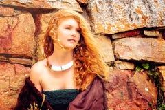 Piękna rudzielec w naturze Obrazy Royalty Free