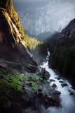 Piękna rzeka z silnym prądem fotografia royalty free
