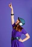 piękna słuchająca muzyczna kobieta Fotografia Stock