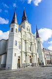 Piękna saint louis katedra w dzielnicie francuskiej w Nowym Orl obraz stock