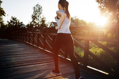 Piękna scena żeński jogger Fotografia Stock