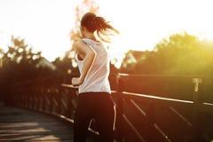 Piękna scena żeński jogger Obraz Stock