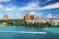Piękna scena Nassau krajobraz z prędkości łodzią Zdjęcia Royalty Free