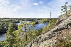 Piękna sceneria od wierzchołka wzgórze Obraz Stock