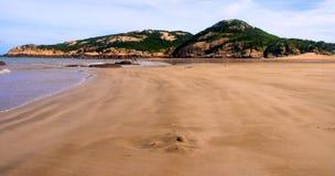 Piękna sceneria plaża Zdjęcie Stock