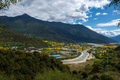 Piękna sceneria: Podróżować w Tybet Obraz Stock