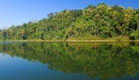 Piękna sceneria przy Królewskim Belum Tropikalnym lasem w Malezja Zdjęcia Royalty Free