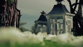 Piękna sceneria przygotowywająca dla świętowań, mali domy zdjęcie wideo