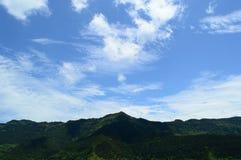 Piękna sceneria szczyt górski fotografia stock