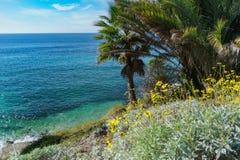 Piękna sceneria wokoło laguna beach zdjęcie stock